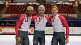 Charles Hamelin, Samuel Girard et Pascal Dion