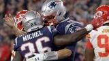 Sony Michel et Tom Brady