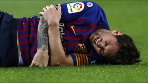 Lionel Messi se blesse au bras droit