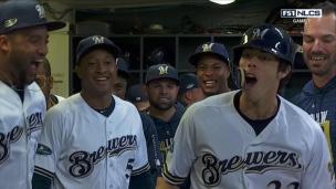 Yelich part le bal à Milwaukee!