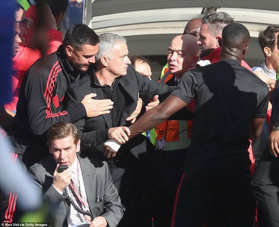 Altercation entre Mourinho et Lanni