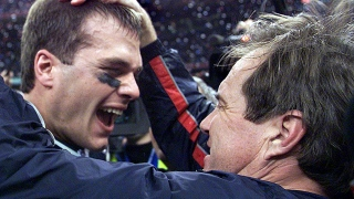Tom Brady et Bill Belichick au Super Bowl en 2002