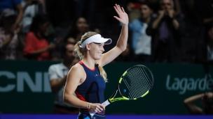 Wozniacki défait Kvitova