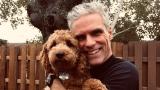 Frédéric Plante et sa chienne Mila