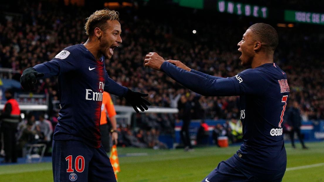 Neymar et Kilian Mbappé