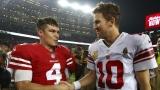 Nick Mullens et Eli Manning
