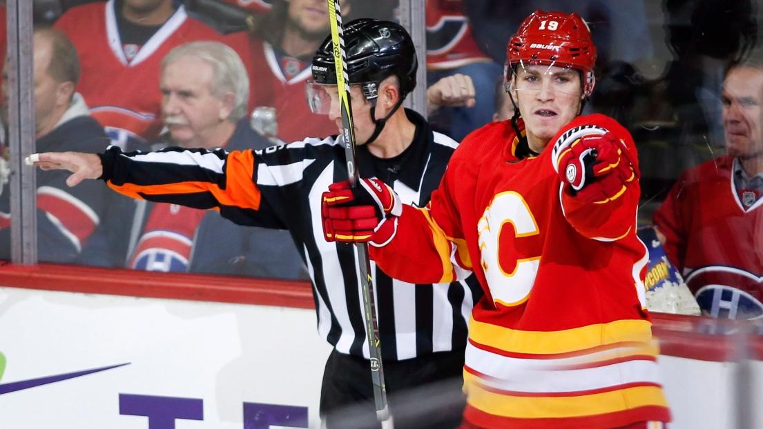 LNH : Matthew Tkachuk s'entend avec les Flames