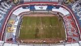 La piètre condition du terrain du Stade Azteca a forcé l'annulation du match