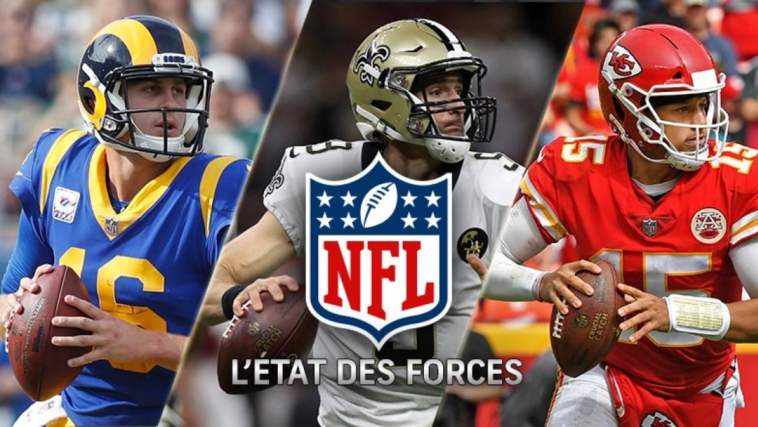 Jared Goff, Drew Brees et Patrick Mahomes