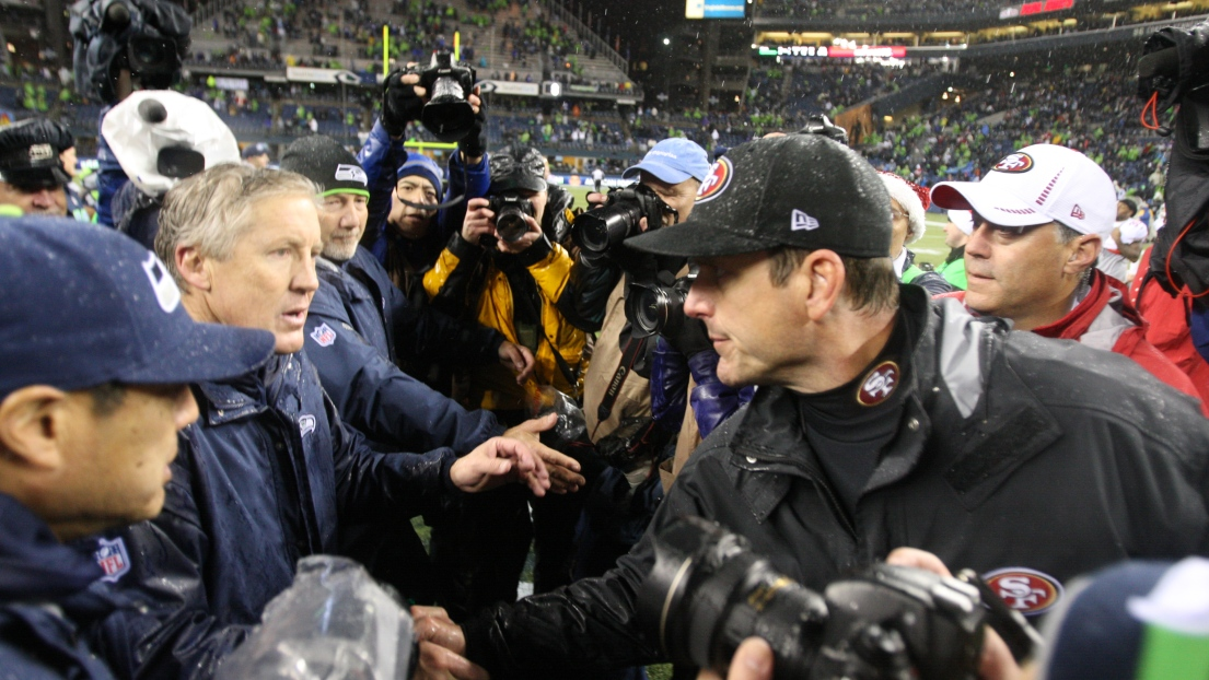 Pete Carroll et Jim Harbaugh