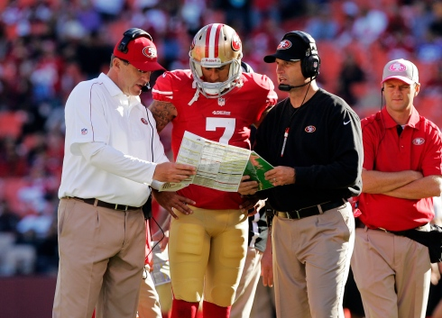 Colin Kaepernick et Jim Harbaugh