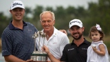 Patton Kizzire, Greg Norman et Brian Harman
