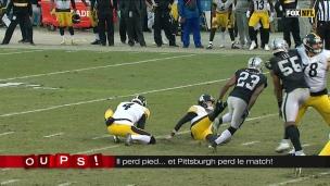 Oups! Le botteur perd pied... et les Steelers le match!