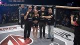 Jade Masson-Wong et Marc-André Barriault entourés des entraîneurs François Duguay et Dany Laflamme
