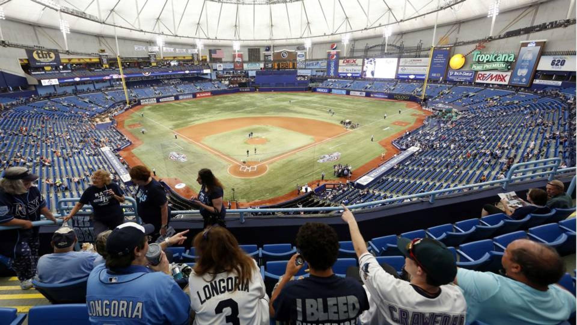 Le Tropicana Field, le domicile actuel des Rays de Tampa Bay