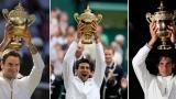 Roger Federer, Novak DJokovic et Rafael Nadal