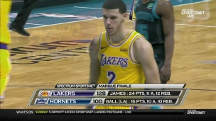 Lakers 128 - Hornets 100