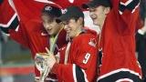 Bergeron, Crosby et Perry en 2005