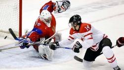 Le but égalisateur de Jordan Eberle face à la Russie (3 janvier 2009)