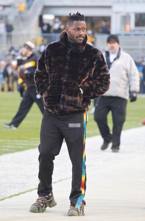 Antonio Brown lors du match Bengals-Steelers