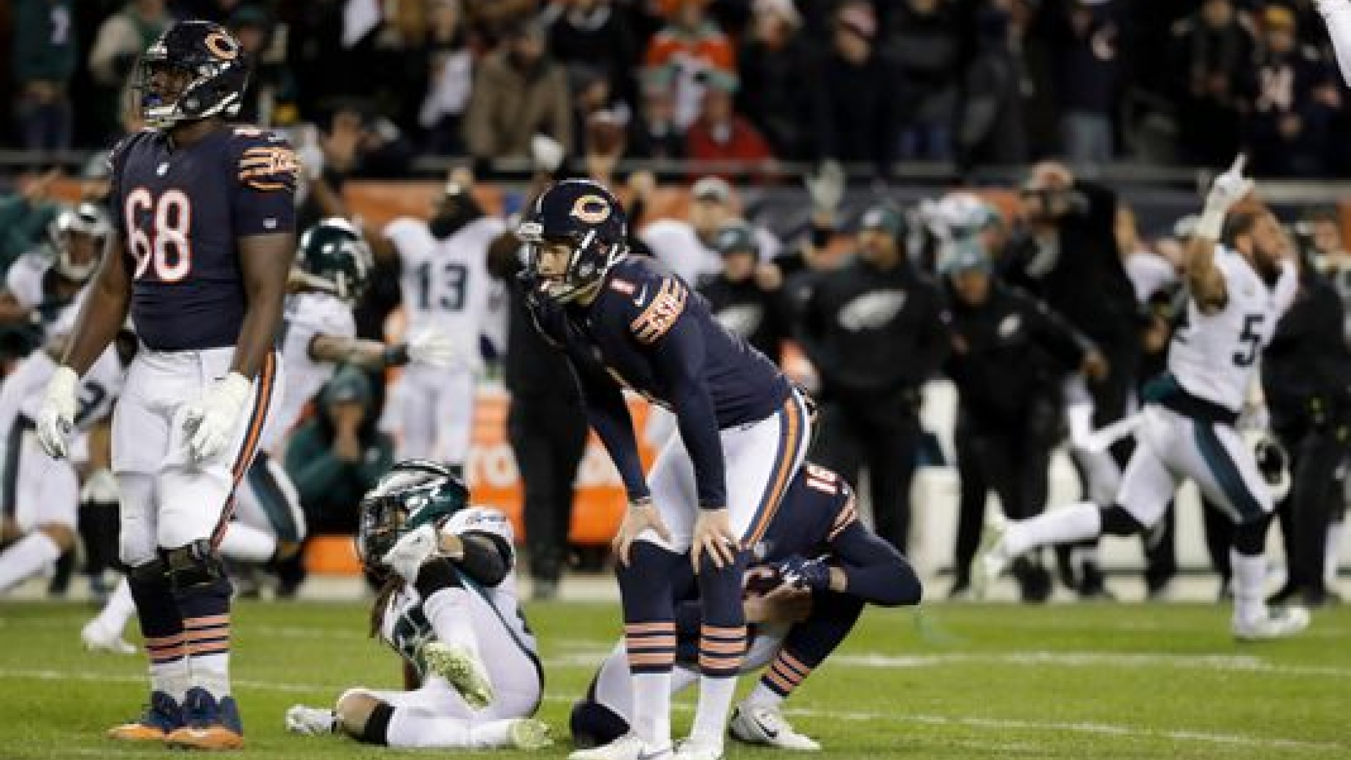 Cody Parkey a manqué un placement qui aurait donné la victoire aux Bears
