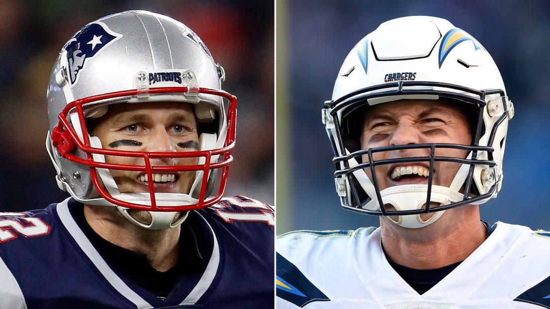 Tom Brady et Philip Rivers