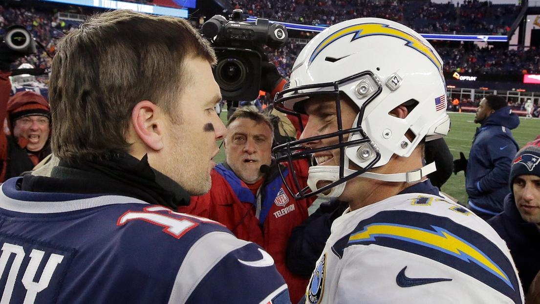 Tom Brady et Philip Rivers