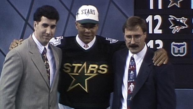 Une des seules images de Jarome Iginla dans l'uniformes des Stars de Dallas
