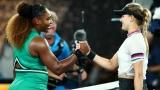 Serena Williams et Eugenie Bouchard