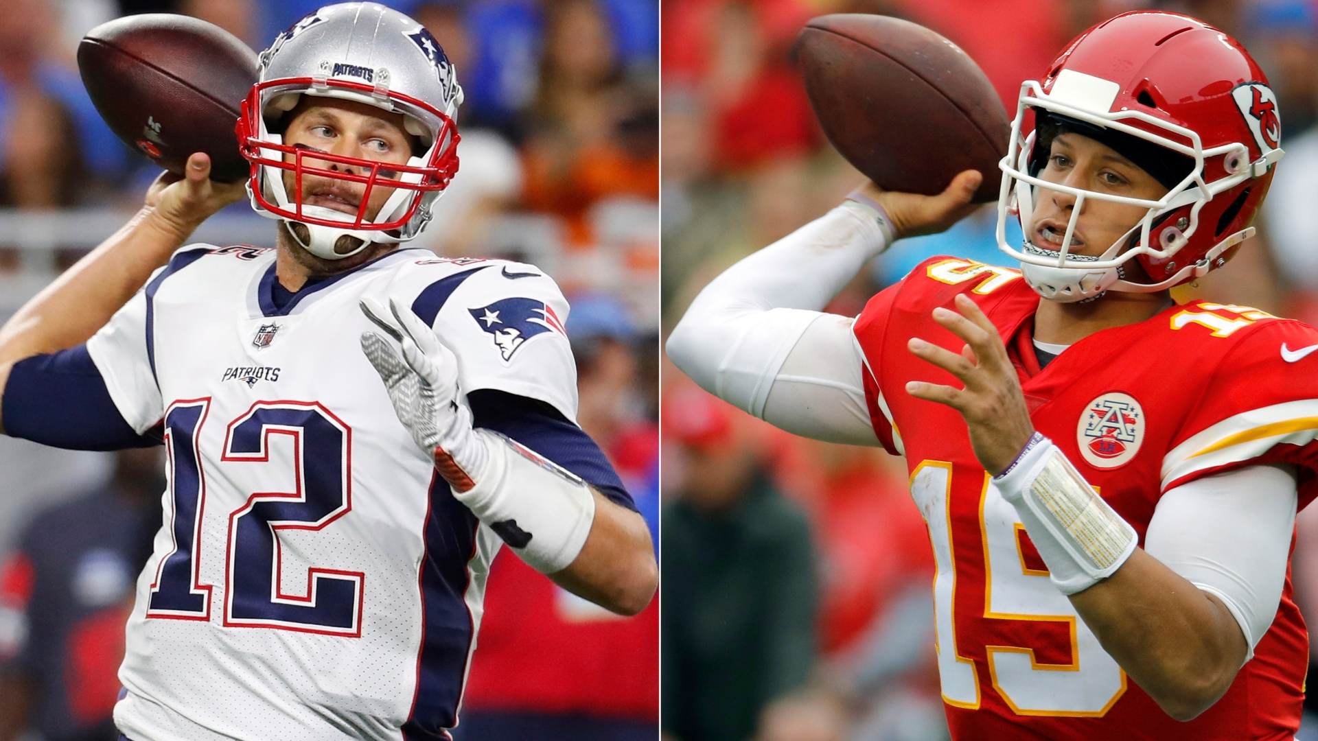 Tom Brady et Patrick Mahomes