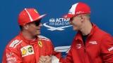 Kimi Raikkonen et Mick Schumacher