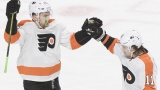 James van Riemsdyk et Travis Konecny