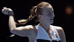 Kvitova accède facilement au prochain tour