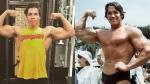 L'un des fils de Schwarzenegger lui rend hommage en recréant l'une de ses poses célèbre
