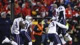 Tom Brady et ses coéquipiers célèbrent la victoire à Kansas City
