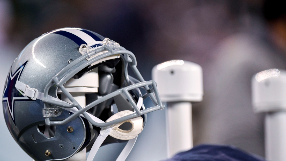 Un casque des Cowboys de Dallas