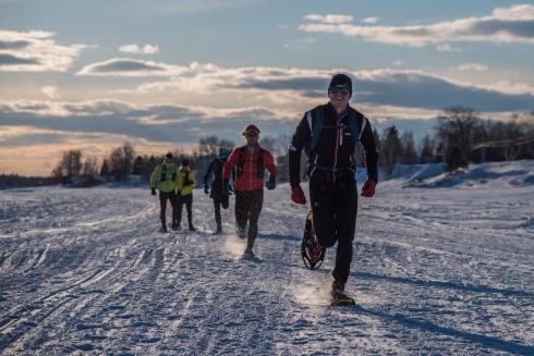 Traverser le lac Saint-Jean à la course
