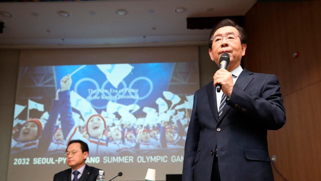 Le maire de Séoul Park Won-soon