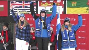 Ski acrobatique : deux Québécoises sur le podium