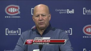 Point de presse de Claude Julien