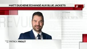 Matt Duchene échangé aux Blue Jackets