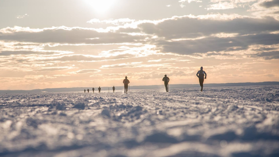 Le lac St-Jean gelé