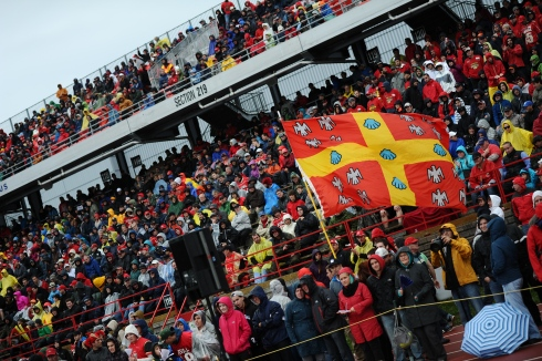 La foule au Stade-Telus du Rouge et Or de l'Université Laval