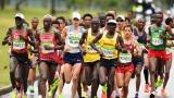 Des coureurs au marathon des Jeux olympiques de Rio.