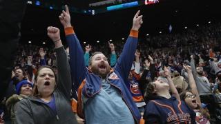Fans au Nassau Coliseum