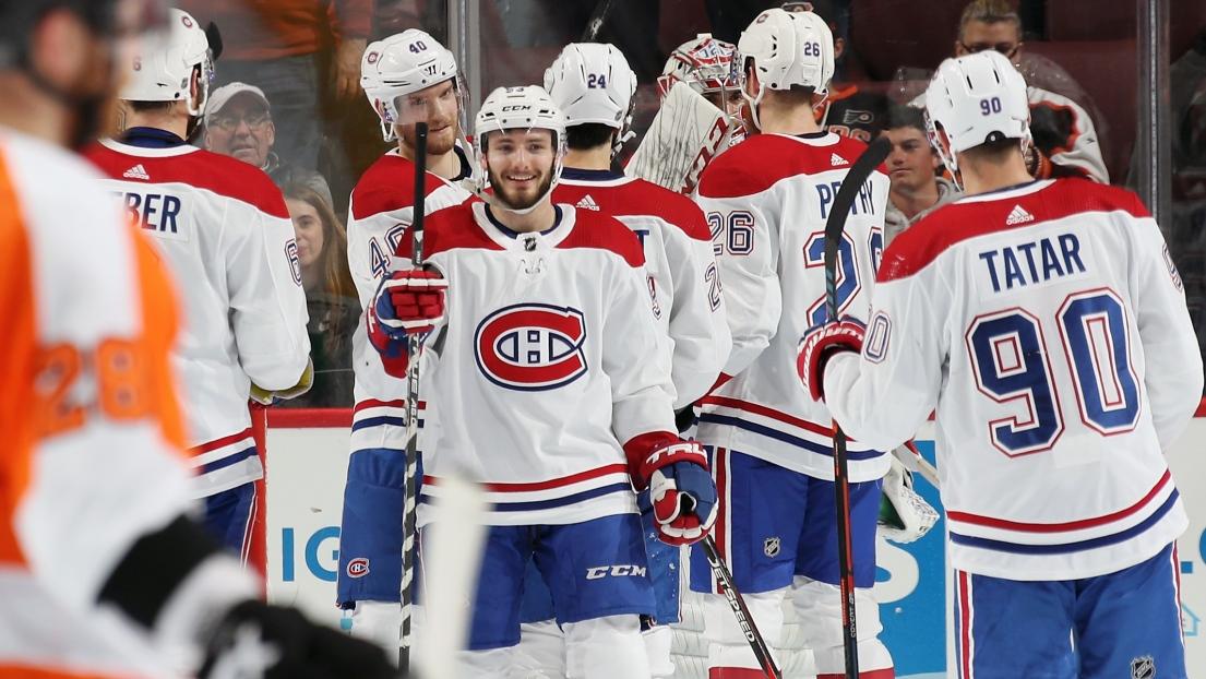 Le Canadien célèbre sa victoire