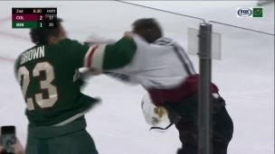 Un furieux combat entre Brown et Calvert