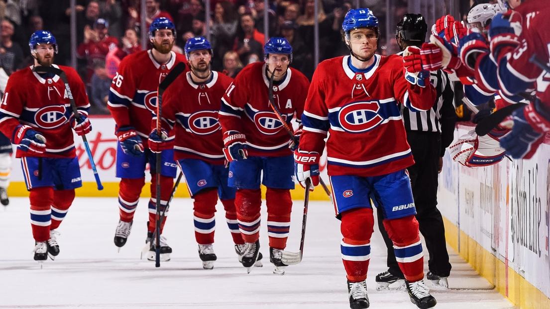 Le Canadien célèbre un but de Max Domi