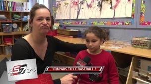 Les 5 à 7 ans parlent de baseball