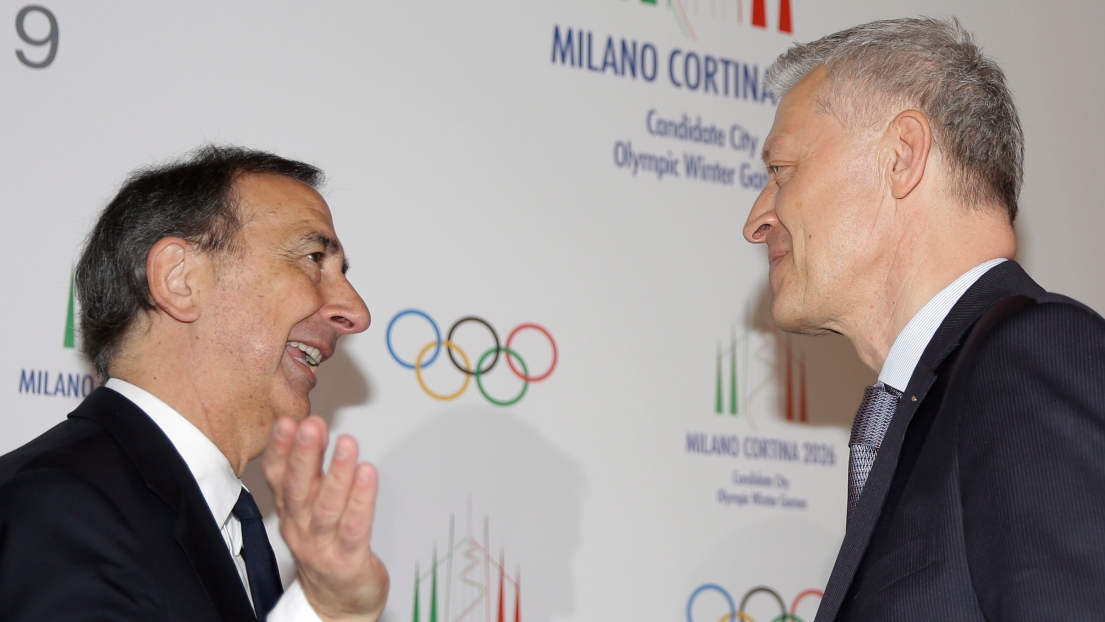 Giuseppe Sala et Octavian Morariu